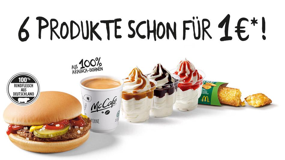 6 Produkte ab 1 Euro